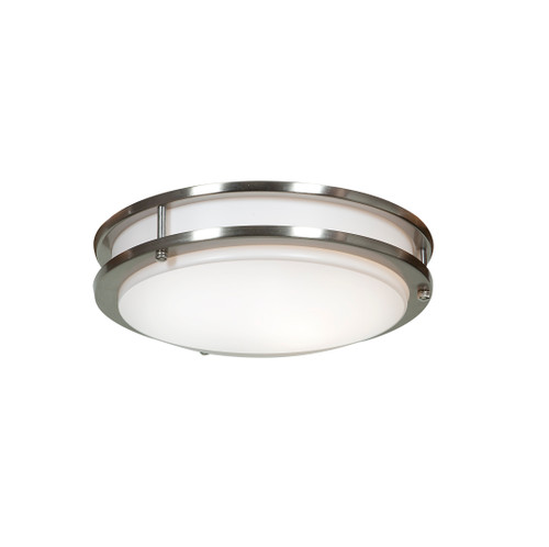 Access Lighting Solero LED Flush Mount in Brushed Steel with Acrylic Lens Glass, 20464LEDD-BS/ACR