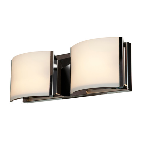 Access Lighting Nitro2 Collection 2-Light Dimmable LED Vanity in Brushed Steel Finish