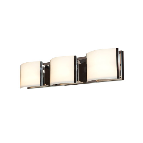 Access Lighting Nitro2 Collection 3-Light Dimmable LED Vanity in Brushed Steel Finish