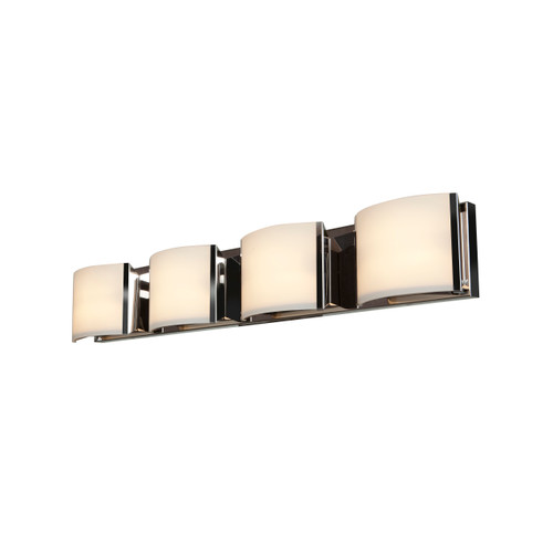 Access Lighting Nitro2 Collection 4-Light Vanity in Brushed Steel Finish