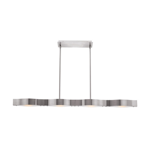 Access Lighting Titanium Collection Semi-Flush or Pendant in Brushed Steel Finish