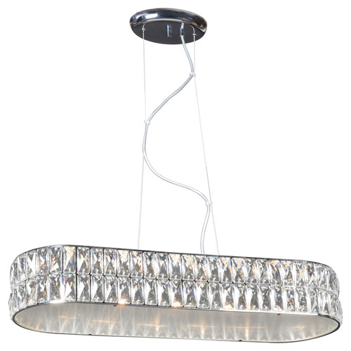 Access Lighting Magari Collection Oblong Crystal Pendant in Chrome Finish