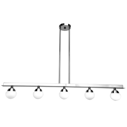 Access Lighting Classic Collection 5-Light Dimmable LED Pendant in Chrome Finish