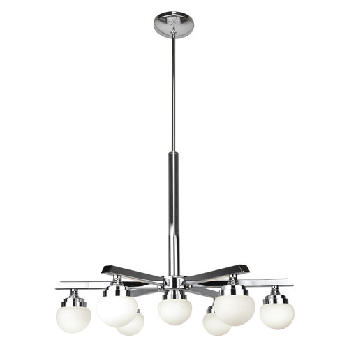 Access Lighting Classic Collection 7-Light Dimmable LED Chandelier in Chrome Finish