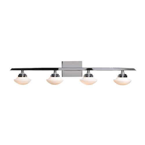 Access Lighting Atomiser Collection 4-Light Dimmable LED Vanity in Chrome Finish