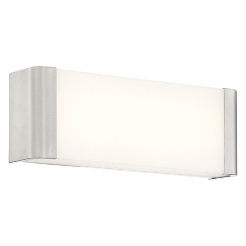 Access Lighting Origin Collection Dimmable LED Vanity in Brushed Steel Finish