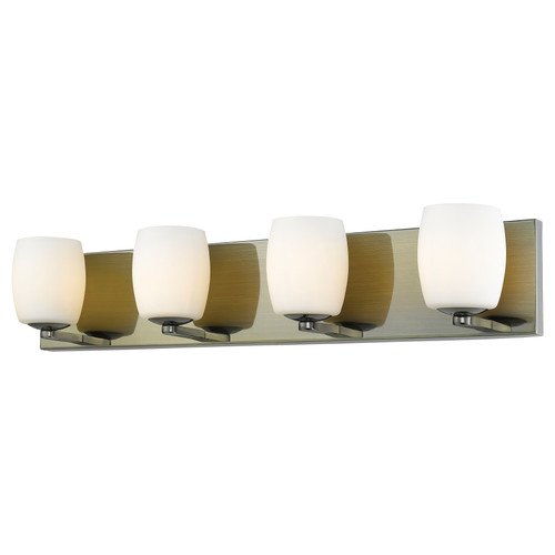 Access Lighting Serenity Collection 4-Light Vanity in Antique Brass Finish