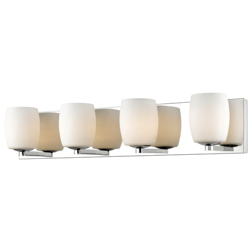 Access Lighting Serenity Collection 4-Light Vanity in Mirrored Stainless Steel Finish