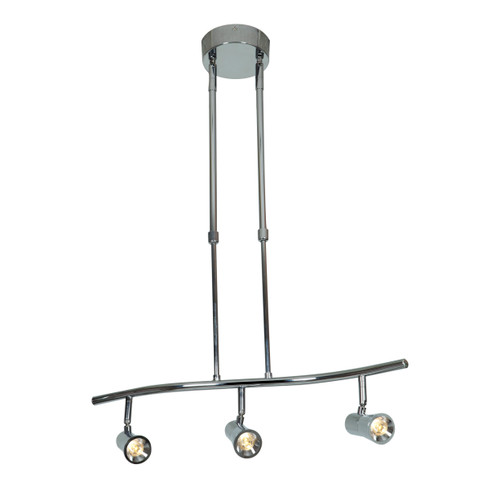 Access Lighting Sleek Collection 3-Light Dimmable LED Spotlight Pendant in Brushed Steel Finish