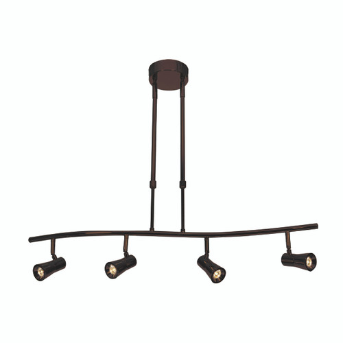 Access Lighting Sleek Collection 4-Light Dimmable LED Spotlight Pendant in Bronze Finish