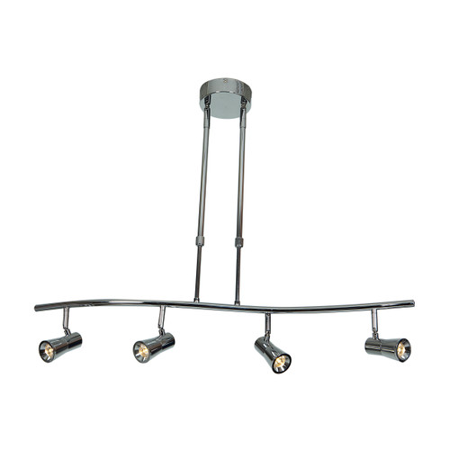 Access Lighting Sleek Collection 4-Light Dimmable LED Spotlight Pendant in Brushed Steel Finish