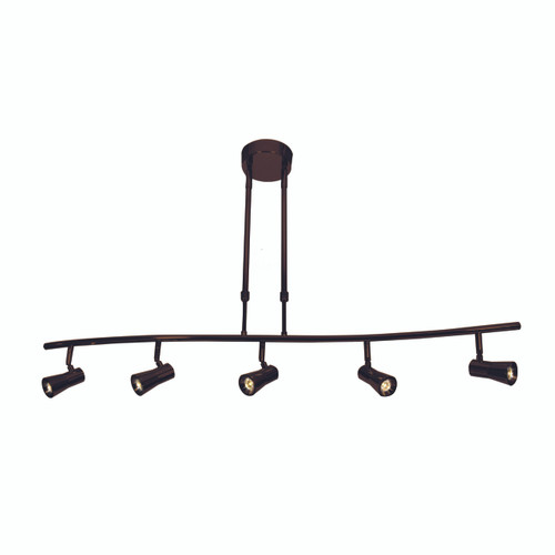 Access Lighting Sleek Collection 5-Light Dimmable LED Spotlight Pendant in Bronze Finish