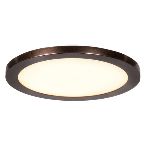 Access Lighting Disc LED Flush Mount in Bronze with Acrylic Lens Glass, 20811LEDD-BRZ/ACR