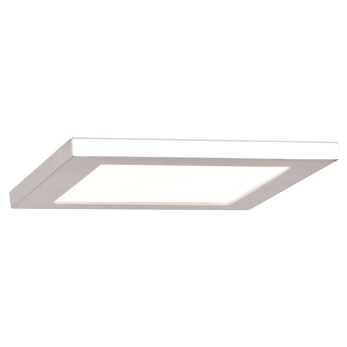 Access Lighting Boxer LED Flush Mount in White with Acrylic Lens Glass, 20814LEDD-WH/ACR