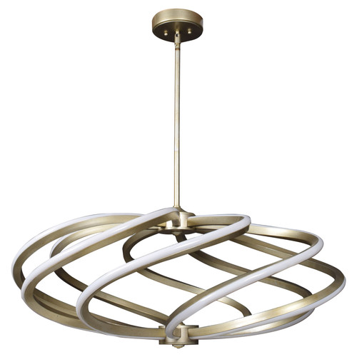 Access Lighting Vortex Collection 8-Light LED Pendant in Inspired Gold Finish