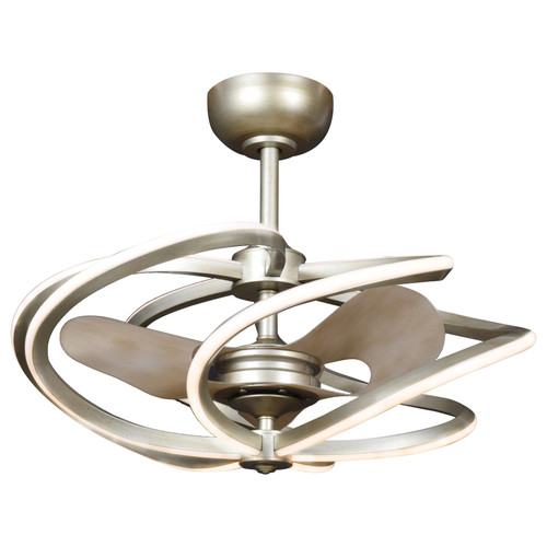 Access Lighting Vortex Collection 6-Light LED Pendant with Fan in Inspired Gold Finish