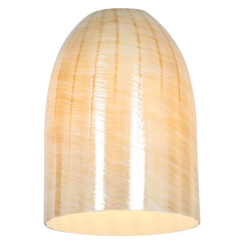 Access Lighting Inari Silk Boreaux Pendant Glass Shade in  with Wicker Amber Glass, 23118-WAMB