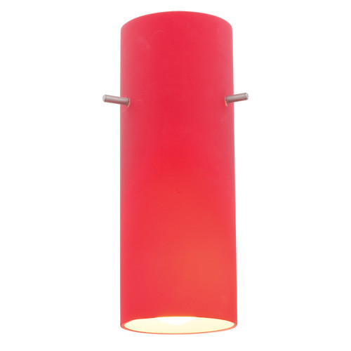 Access Lighting Cylinder Pendant Glass Shade in  with Red Glass, 23130-RED