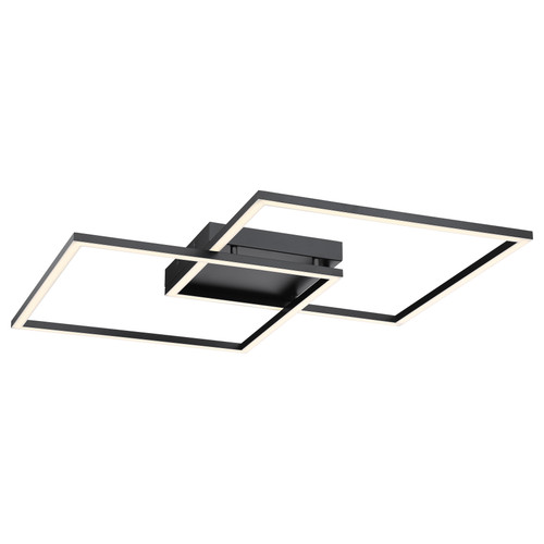 Access Lighting Squared Collection Dimmable LED Ceiling or Wall Fixture in Black Finish