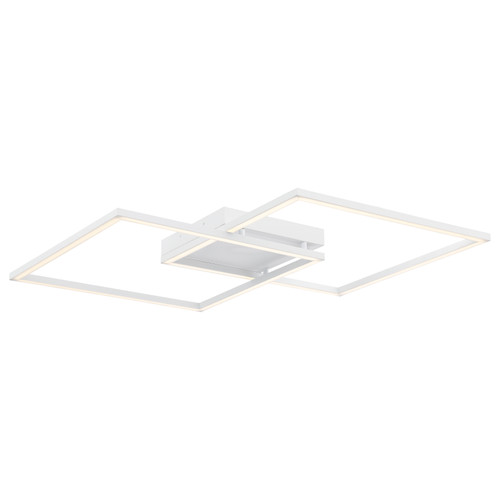 Access Lighting Squared Collection Dimmable LED Ceiling or Wall Fixture in White Finish