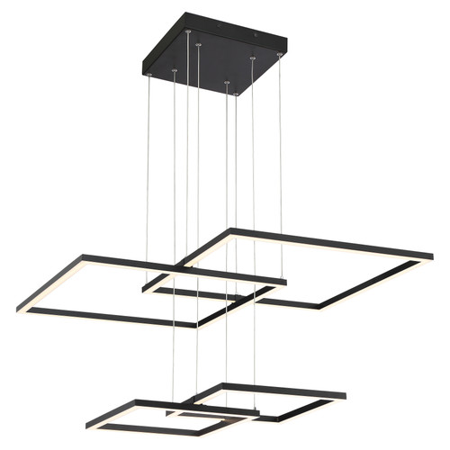 Access Lighting Squared Collection Dimmable LED Pendant in Black Finish