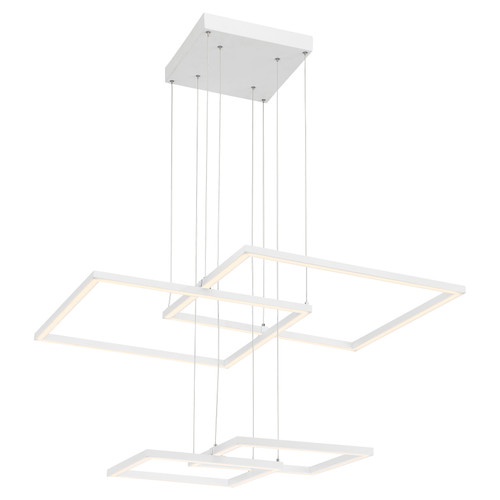 Access Lighting Squared Collection Dimmable LED Pendant in White Finish