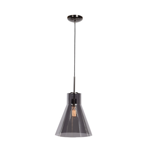 Access Lighting Simplicite Collection 1-Light Pendant in Black Chrome Finish