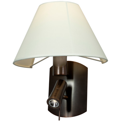 Access Lighting Cyprus Collection LED and Flourescent Wall Lamp in Bronze Finish