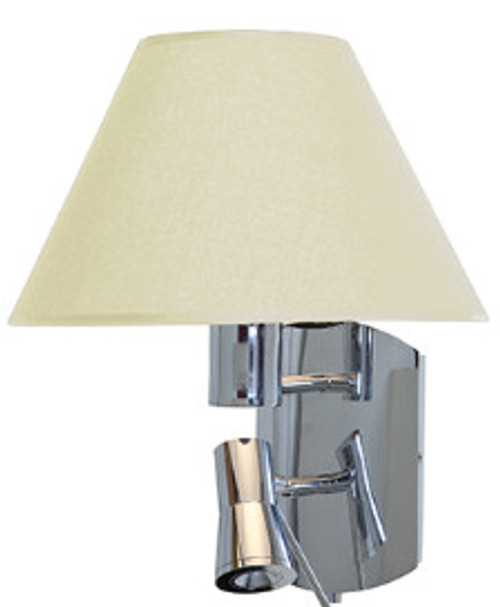 Access Lighting Cyprus Collection LED and Flourescent Wall Lamp in Chrome Finish