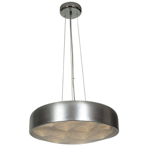 Access Lighting Meteor Collection Dimmable LED Pendant in Brushed Silver Finish