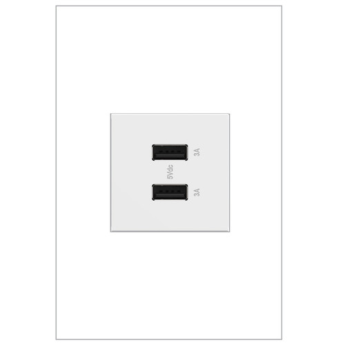 Legrand adorne Ultra-Fast USB Type A/A Outlet