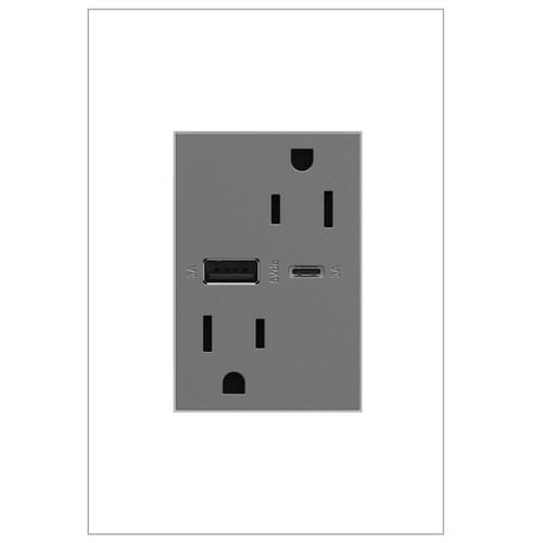Legrand adorne Ultra-Fast 15A Tamper-Resistant USB Type A/C Hybrid Outlet