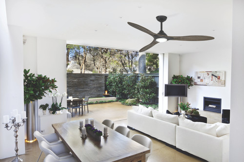 "Minka Aire 60"" 3-Blade Sleek Ceiling Fan with Smart LED Energy Star and Remote Control Included"