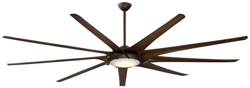 """Minka Aire 99"""" 9-Blade Ninety-Nine LED Ceiling Fan with Remote Control Included"""