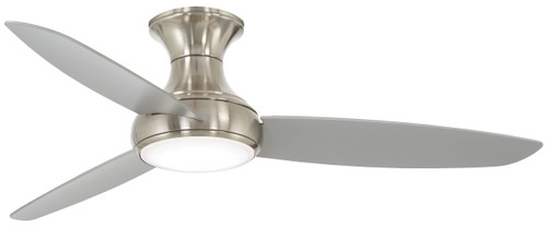 "Minka Aire 54"" 3-Blade LED Concept III Smart Flush Mount Ceiling Fan with Remote Control"