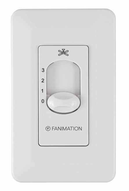 Fanimation Three Speed Wall Control Non-Reversing - Fan Speed Only - White