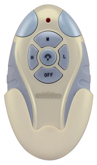 Fanimation Remote Control with Receiver Non-Reversing - Fan Speed and Light - Light Almond