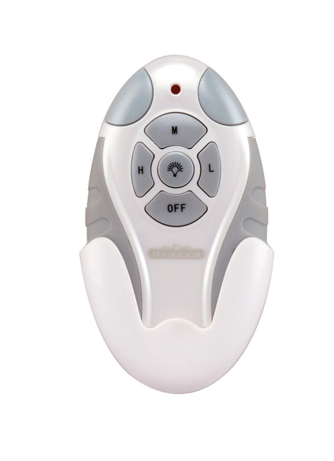 Fanimation Remote Control with Receiver Non-Reversing - Fan Speed and Light - White