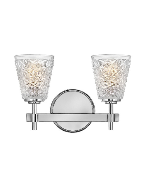 Hinkley Bath Amabelle Collection Two Light Vanity in Chrome, 5152CM