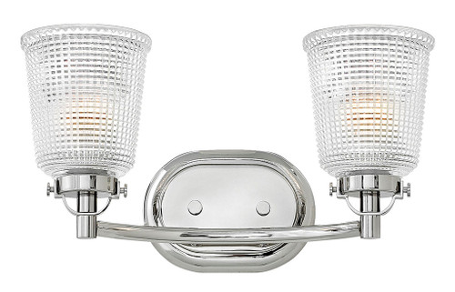 Hinkley Bath Bennett Collection Two Light Vanity in Polished Nickel, 5352PN