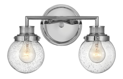 Hinkley Bath Poppy Collection Two Light Vanity in Chrome, 5932CM