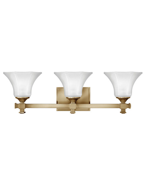 Hinkley Bath Abbie Collection Three Light Vanity in Brushed Caramel, 5853BC