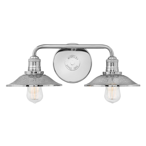 Hinkley Bath Rigby Collection Two Light Vanity in Polished Nickel, 5292PN