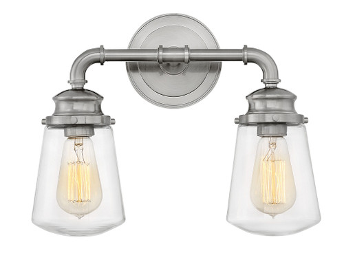 Hinkley Bath Fritz Collection Two Light Vanity in Brushed Nickel, 5032BN