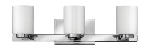 Hinkley Bath Miley Collection Three Light Vanity in Chrome, 5053CM-LED