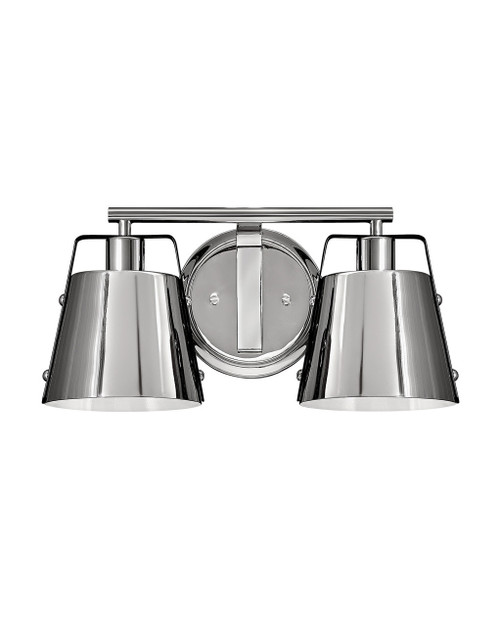 Hinkley Bath Cartwright Collection Two Light Vanity in Polished Nickel, 5982PN