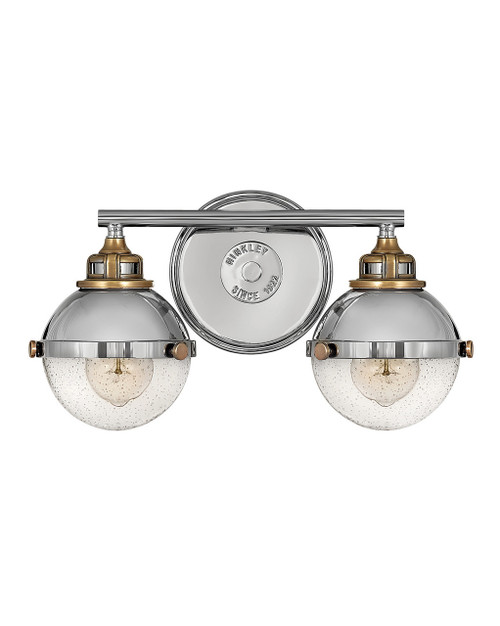 Hinkley Bath Fletcher Collection Two Light Vanity in Polished Nickel, 5172PN