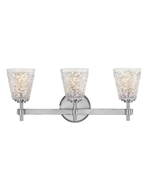 Hinkley Bath Amabelle Collection Three Light Vanity in Chrome, 5153CM
