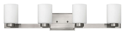 Hinkley Bath Miley Collection Four Light Vanity in Brushed Nickel, 5054BN