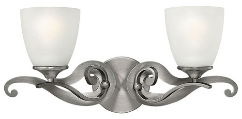 Hinkley Bath Reese Collection Two Light Vanity in Antique Nickel, 56322AN